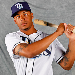 February 29, 2012; Port Charlotte, FL, USA; Tampa Bay Rays left fielder Desmond Jennings (8) poses for a portrait during photo day at Charlotte Sports Park.  Mandatory Credit: Derick E. Hingle-US PRESSWIRE