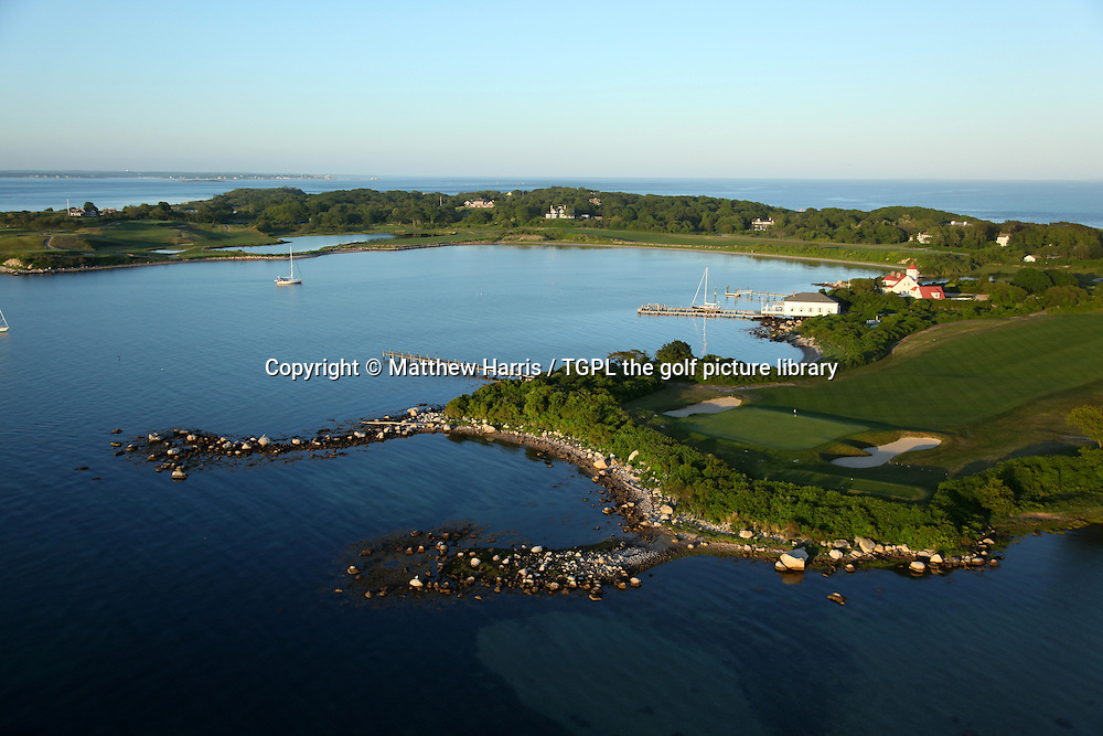 Fishers Island Golf Club aerial general view, Fishers Island,New York,USA.