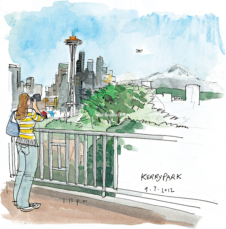 A view of the Seattle Space Needle from Kerry Park in the Queen Anne Hill neighborhood. <br /> <br /> Gabriel Campanario / The Seattle Times