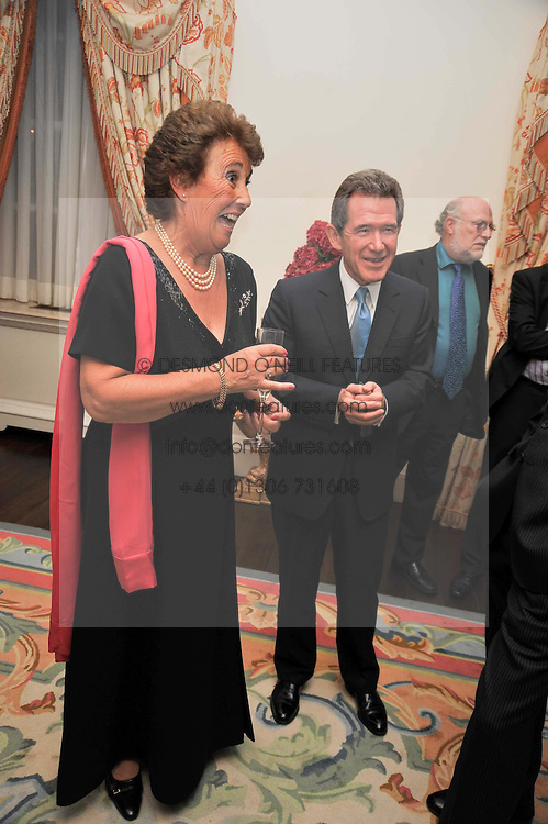 MARY GOSLING and LORD BROWNE at a party to celebrate the publication of Gosling - Classic Design for Contemporary Interiors by Tim Gosling held at William Kent House, The Ritz Hotel, London on 1st October 2009.