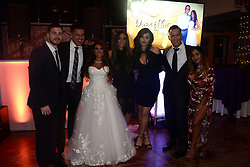 "EXCLUSIVE: 'Jersey Shore' alum, Deena Cortese reunited with her Jersey Shore castmates on Saturday as they showed up to celebrate with her and Chris Buckner. The Shore-studded wedding in Cortese's hometown of New Egypt, N.J. included guests Nicole ""Snooki"" Polizzi, Jenni ""JWoww"" Farley, Vinny Guadagnino, Paul ""DJ Pauly D"" DelVecchio, Sammi ""Sweetheart"" Giancola and Mike ""The Situation"" Sorrentino. 28 Oct 2017 Pictured: Deena Cortese, Chris Buckner, Nicole ""Snooki"" Polizzi, Jenni ""JWoww"" Farley, Vinny Guadagnino, Paul ""DJ Pauly D"" DelVecchio, Sammi ""Sweetheart"" Giancola and Mike ""The Situation"" Sorrentino. Photo credit: Aaron Showalter / MEGA TheMegaAgency.com +1 888 505 6342"