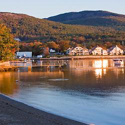 Early morning in Camden Harbor.  Camden, Maine.