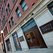Savoy Hotel and Grill at 9th & Central, downtown Kansas City, MO.