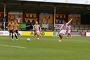 Sam Jones scores and celebrates on his debut  during the EFL Sky Bet League 2 match between Cambridge United and Cheltenham Town at the Cambs Glass Stadium, Cambridge, England on 25 August 2018.