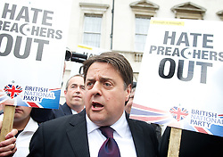 Nick Griffin during a British National party (BNP) march in<br /> Parliament Square, London, United Kingdom, <br /> Saturday, 1st June 2013<br /> Picture by Elliot Franks / i-Images
