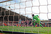 Danny Ings (9) of Southampton shoots over the bar missing the goal during the Premier League match between Southampton and Chelsea at the St Mary's Stadium, Southampton, England on 7 October 2018.