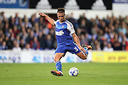 Ipswich Town defender Jonas Knudsen (3) shoots at goal during the EFL Sky Bet Championship match between Ipswich Town and Brighton and Hove Albion at Portman Road, Ipswich, England on 27 September 2016.