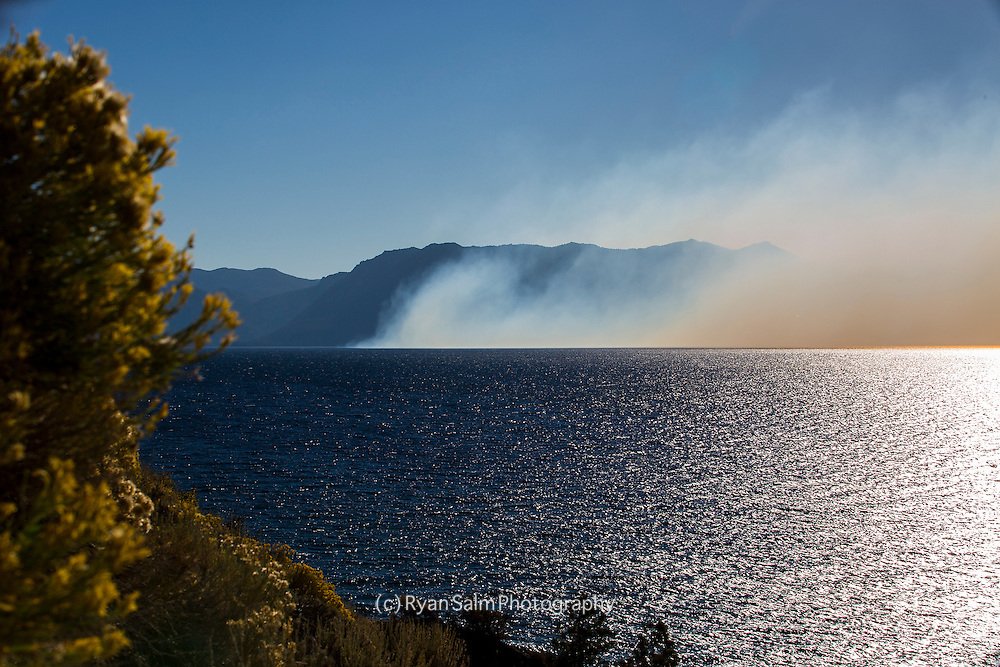 Smoke from a forest fire on the western slope takes its toll on the Tahoe Basin.