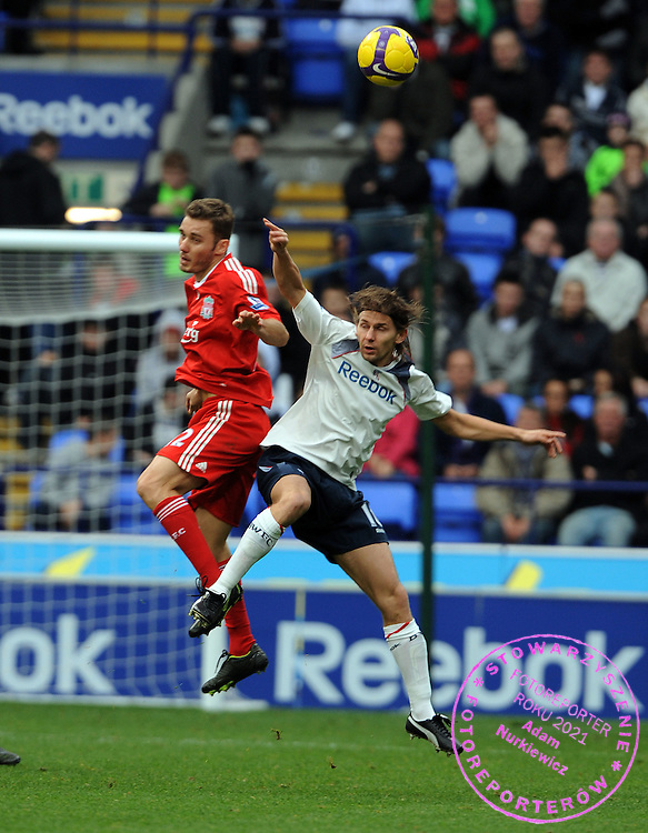 Ebi Smolarek.Bolton Wanderers 2008/09.Fabio Aurelio Liverpool.Bolton Wanderers V Liverpool (0-2) 15/11/08.The Premier League.Photo Robin Parker Fotosports International