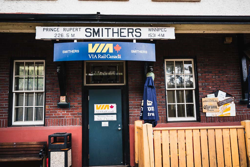 Smithers Train Station, 3815 North Railway Street<br /> Smithers, BC, Canada.
