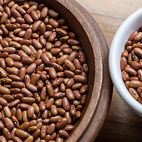 Dried, heirloom 'Arikara Yellow' beans