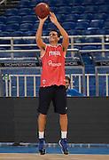 ATENE 29/08/2013<br /> AKROPOLIS CUP  ALLENAMENTO <br /> NELLA FOTO ANDREA CINCIARINI<br /> FOTO CIAMILLO