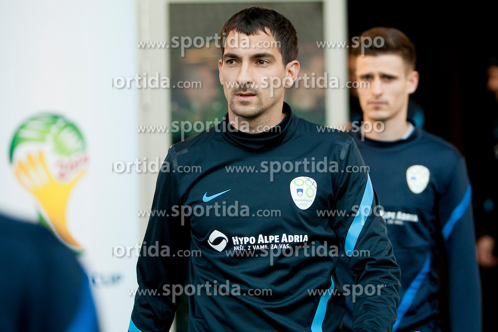 during training session of Slovenian National football team before World Cup Qualifications match against Iceland on March 20, 2013 in SRC Stozice, Ljubljana, Slovenia. (Photo By Urban Urbanc / Sportida.com)