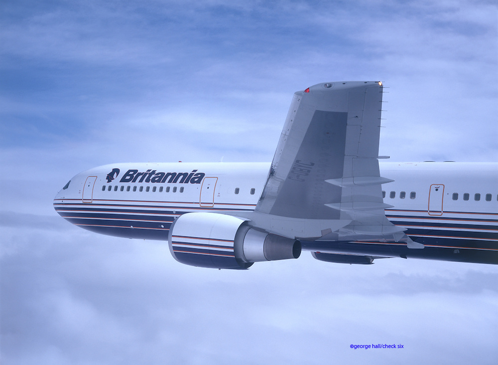 Close up of airliner in flight