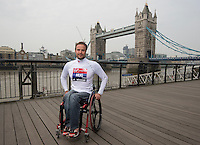 Virgin Money London Marathon 2015<br /> <br /> Marcel Hug (Switzerland) IPC Athlete competing in the IPC World Championships.<br /> <br /> <br /> Photo: Bob Martin for Virgin Money London Marathon<br /> <br /> This photograph is supplied free to use by London Marathon/Virgin Money.