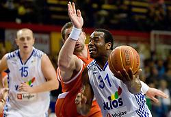 Alvin Snow of Helios at basketball match in 6th Round of NLB League  between KK Helios Domzale and KK Hemofarm STADA Vrsac , on November 7, 2009, in Dvorana Komunalnega centra, Domzale, Slovenia.  Helios lost 60:85. (Photo by Vid Ponikvar / Sportida)