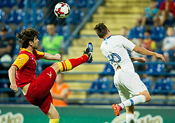 Boris Kopitovic of Montenegro vs Miha Zajc of Slovenia during friendly football match between National Teams of Montenegro and Slovenia, on June 2, 2018 in Stadium Pod goricom, Podgorica, Montenegro. Photo by Vid Ponikvar / Sportida