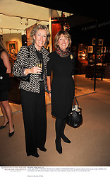 Left to right, MARY STOPFORD SACKVILLE and SARAH CUNNINGHAM-REID at a preview evening of the annual London LAPADA (The Association of Art & Antiques Dealers) antiques Fair held in Berkeley Square, London on 21st September 2010. *** Local Caption *** Image free to use for 1 year from image capture date as long as image is used in context with story the image was taken.  If in doubt contact us - info@donfeatures.com<br /> Left to right, MARY STOPFORD SACKVILLE and SARAH CUNNINGHAM-REID at a preview evening of the annual London LAPADA (The Association of Art & Antiques Dealers) antiques Fair held in Berkeley Square, London on 21st September 2010.