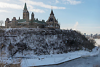 Parliament Hill viewed from near Fairmount Chateau Laurier, Wellington Street, Ottawa