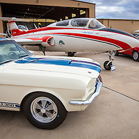 Mustang, Delfin and Alfa Romeo Tableau, Planes and Cars at the Santa Fe Airport, 2013 Santa Fe Concorso.