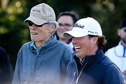 """Feb 6, 2019 Pebble Beach, Ca. USA TV, Film and singing stars that included Winners, CLINT EASTWOOD and CLAY WALKER whom played in the """"3M Celebrity Challenge"""" to try for part of the 100K purse to go to their favorite charity and win the Estwood-Murray cup, for which team Clint Eastwwod's group won.. The event took place during practice day of the PGA AT&T National Pro-Am golf on the Pebble Beach Golf Links. Photo by Dane Andrew c. 2019 contact: 408 744-9017  TenPressMedia@gmail.com"""