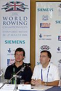 Eton, GREAT BRITAIN,  Eton, GREAT BRITAIN, Top table. left to right, Steve WILLIAMS, Matt SMITH,  2006 World Rowing Championships, 17/08/2006.  2006 World Rowing Championships, 17/08/2006.  Photo  Peter Spurrier, © Intersport Images,  Tel +44 [0] 7973 819 551,  email images@intersport-images.com , Rowing Courses, Dorney Lake, Eton. ENGLAND