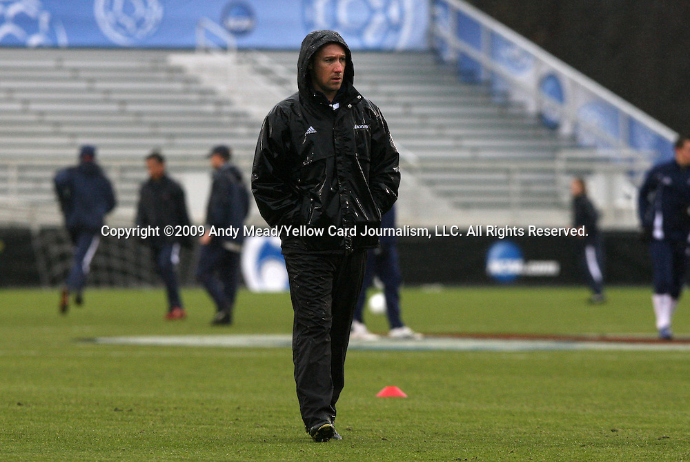 13 December 2009: Akron head coach Caleb Porter. The University of Akron Zips played the University of Virginia Cavaliers at WakeMed Soccer Stadium in Cary, North Carolina in the NCAA Division I Men's College Cup Championship game.