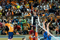 Vucicevic Bozidar of ACH Volley during volleyball match between ACH Volley Ljubljana (SLO) and Kuzbas Kemerevo (RUS) n 2nd Round, group B of 2019 CEV Volleyball Champions League, on December 11, 2019 in Hala Tivoli, Ljubljana, Slovenia. Grega Valancic / Sportida