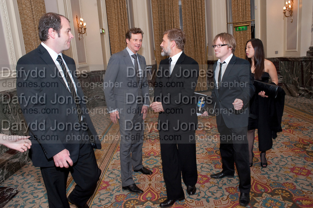 COLIN FIRTH; CHRISTOPHE WALTZ, The 30th London Critics' Circle Film Awards, held in aid of the NPSCC at the Landmark London Hotel. 18 February 2010.<br /> COLIN FIRTH; CHRISTOPHE WALTZ, The 30th London CriticsÕ Circle Film Awards, held in aid of the NPSCC at the Landmark London Hotel. 18 February 2010.
