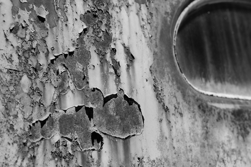 Peeling Paint and Rust - Motor Transport Museum - Campo, CA - Lensbaby - Black & White