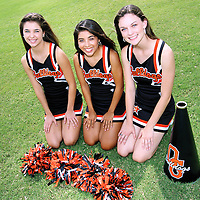 Cheerleaders from Orange Grove High School in Orange Grove, Texas.