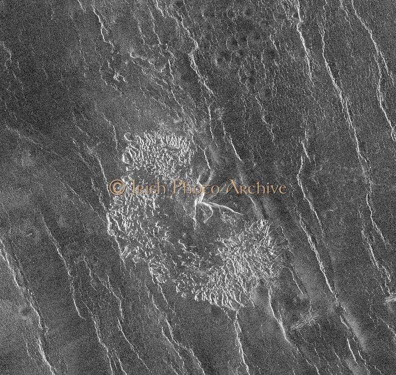 The Magellan spacecraft has observed remnant landslide deposits apparently resulting from the collapse of volcanic structures.