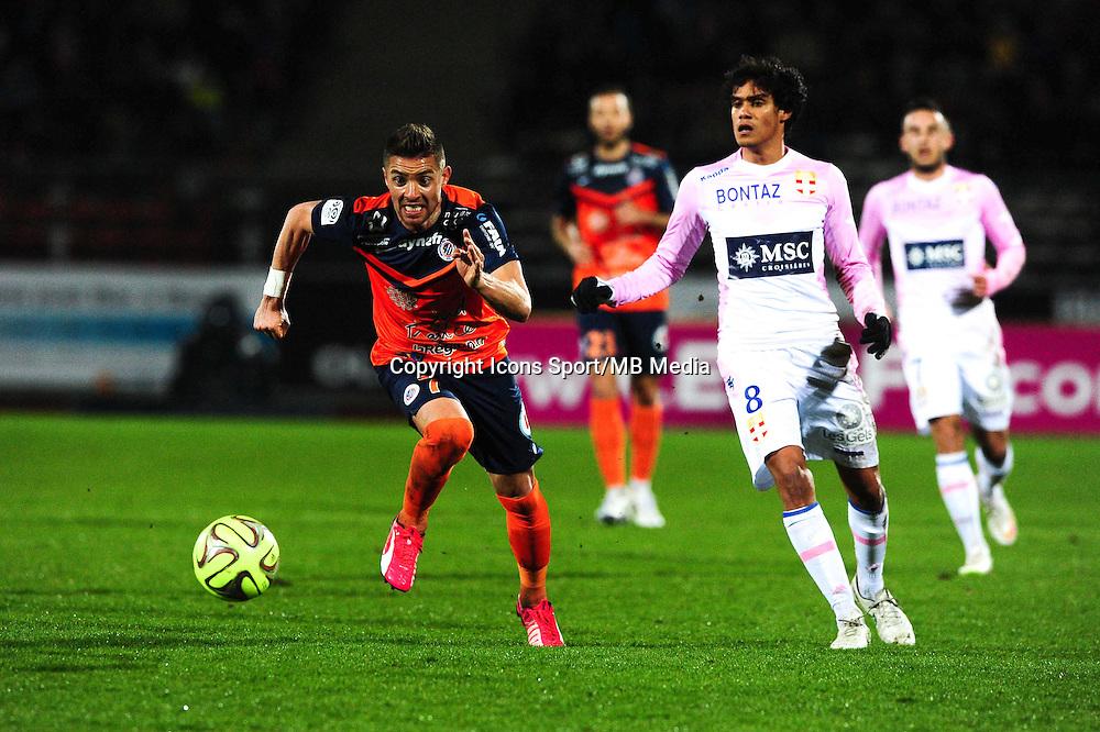 Anthony MOUNIER - 21.03.2015 - Evian Thonon / Montpellier - 30eme journée de Ligue 1 -<br />Photo : Jean Paul Thomas / Icon Sport