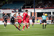 Dundee&rsquo;s Mark O&rsquo;Hara comes close with a seconf half shot - Dundee v Aberdeen in the Ladbrokes Scottish Premiership at Dens Park, Dundee. Photo: David Young<br /> <br />  - &copy; David Young - www.davidyoungphoto.co.uk - email: davidyoungphoto@gmail.com