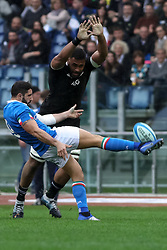 November 24, 2018 - Rome, Rome, Italy - Tito Tebaldi and Patrick Tuipulotu during the Test Match 2018 between Italy and New Zealand at Stadio Olimpico on November 24, 2018 in Rome, Italy. (Credit Image: © Emmanuele Ciancaglini/NurPhoto via ZUMA Press)