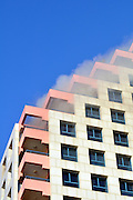 Israel Tel Aviv, The new modern residential and commercial Opera tower built over the remains of the old Opera house in Allenby Street on the beach front. A fire broke out in an apartment November 11 2009