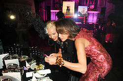 Left to right, AMANDA ELIASCH and ANDREA DELLAL at 'Superficial Butterfly' a party hosted by Amanda Eliasch to celebrate her 50th birthday held at Number One Mayfair (St Marks Church) North Audley Street, London on 12th May 2010.