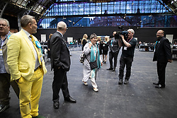 © Licensed to London News Pictures . 26/05/2019. Manchester, UK. Brexit Party's CLAIRE FOX arrives . The count for seats in the constituency of North West England in the European Parliamentary election , at Manchester Central convention centre . Photo credit: Joel Goodman/LNP
