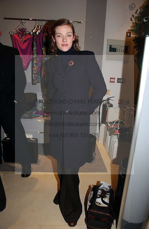 Actress CAMILLA RUTHERFORD at the launch of the Essenziale shop, Grafton Street, London on 12th December 2006.<br />