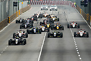 Start of the F3 qualifying race with Joel ERIKSSON, Motopark with VEB, Dallara Volkswagen and Lando NORRIS, GBR, Carlin, Dallara Volkswagen<br /> <br /> 64th Macau Grand Prix. 15-19.11.2017.<br /> Suncity Group Formula 3 Macau Grand Prix - FIA F3 World Cup<br /> Macau Copyright Free Image for editorial use only
