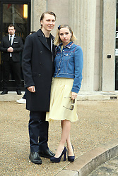 Paul Dano and Zoe Kazan arrive at the Miu Miu show as part of the Paris Fashion Week Womenswear Fall, Winter 2016, 2017 on March 9, 2016 in Paris, France. EXPA Pictures &copy; 2016, PhotoCredit: EXPA/ Photoshot/ Zenon Stefaniak<br /> <br /> *****ATTENTION - for AUT, SLO, CRO, SRB, BIH, MAZ, SUI only*****