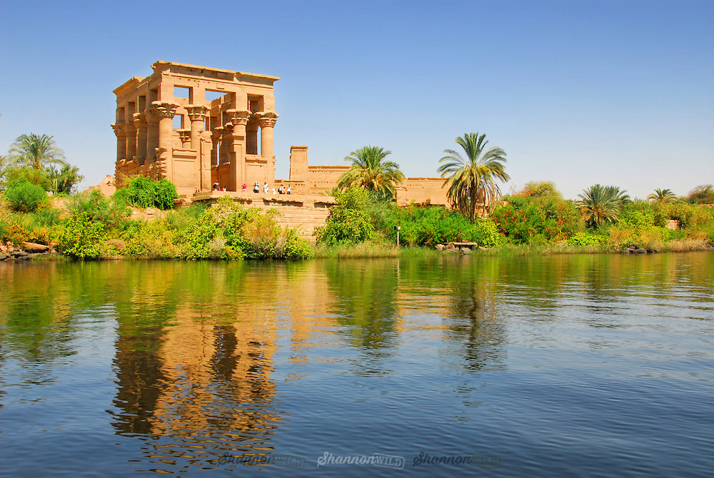 A reflective moment from the waters around the Temple of Philae in Aswan, Egypt.