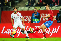 November 15, 2018 - Gdansk, Poland - Bartosz Bereszynski of Poland vies Tomas Soucek of Czech Republic during the international friendly soccer match between Poland and Czech Republic at Energa Stadium in Gdansk, Poland on 15 November 2018. (Credit Image: © Foto Olimpik/NurPhoto via ZUMA Press)