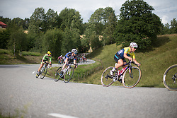 Lauren Kitchen (AUS) of Hitec Products Cycling Team rides near the front of the race during the 97,1 km second stage of the 2016 Ladies' Tour of Norway women's road cycling race on August 13, 2016 between Mysen and Sarpsborg, Norway. (Photo by Balint Hamvas/Velofocus)