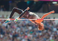 Athletics - 2017 IAAF London World Athletics Championships - Day Eight, Morning Session<br /> <br /> Mens High Jump - Qualification<br /> <br /> Eike Onnen (Germany) clears the high bar at the London Stadium<br /> <br /> COLORSPORT/DANIEL BEARHAM