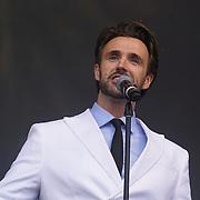 London, Trafalgar Square London,UK,19th June 2016, Michael Xavier on stage at West End Live in Trafalgar Square, London. Photo by See Li