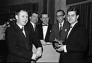 The Regal Showband, with Manager Paddy Kennedy, Cork, with their first recording 'Love Me', released under the King label. .09.11.1964