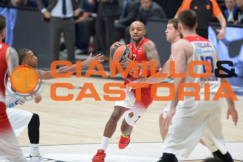 Hickman Richard<br /> Olimpia EA7 Emporio Armani Milano vs Cska Moscow<br /> Euroleague 2016/2017<br /> Milano 08/12/2016<br /> Foto Ciamillo-Castoria