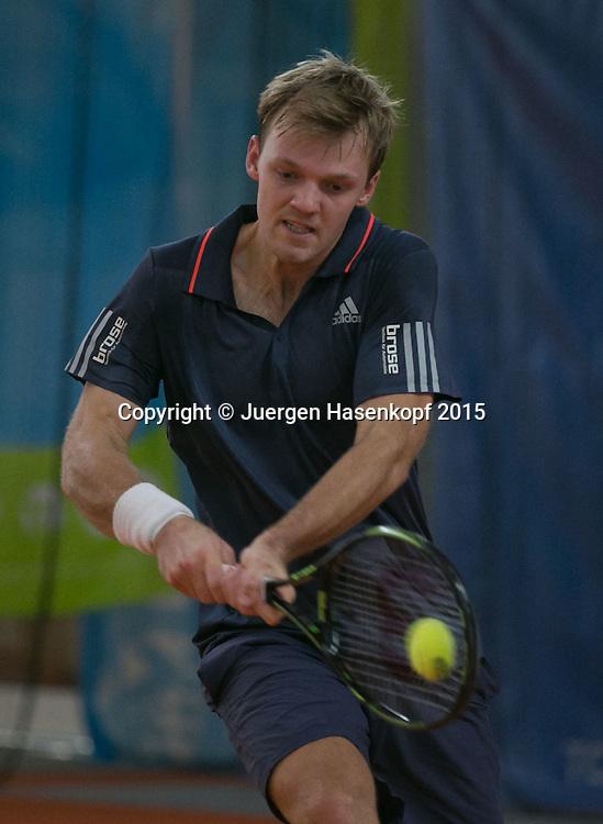 Kevin Krawietz (GER)<br /> <br /> Tennis - Ismaning Open 2015 - ITF 10.000 -  TC Ismaning - Ismaning - Bavaria - Germany - 30 October 2015. <br /> &copy; Juergen Hasenkopf