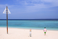 A quiet beach on Soseko Island, off the coast of the main island of Okinawa, Japan.